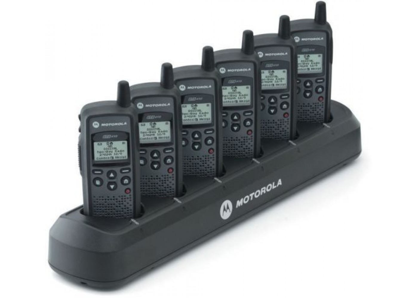 6 Pack Of Motorola DTR650 With Free Bank Charger 900Mhz