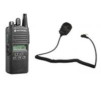 Motorola CP185  UHF Non-Display AAH03RDC4AB7AN w/ Remote Speaker Mic