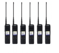 Six Pack Motorola Solutions DTR700 Portable Digital Radio - DTS150NBDLAA