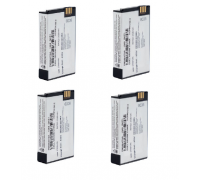 4 Pack  PMNN4578 PMNN4578A Motorola Li-Ion Battery 2500 mAh
