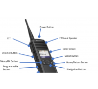 Motorola Solutions DTR700 Portable Digital Radio - DTS150NBDLAA