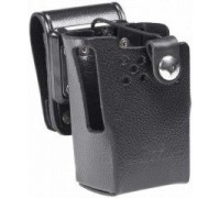 LCC-820SH Leather case with D Swivel. For use with VX-821/P821