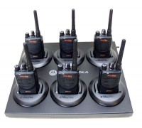 6 BPR40 VHF  8 channel two-way radio with free six bank charger