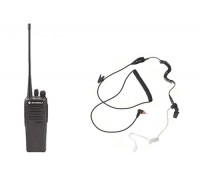 AAH01QDC9JC2AN Motorola CP200D with headset 403-470Mhz 5 Watts Analog