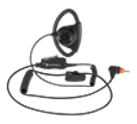 Motorola PMLN7159 - Adjustable D-Style Earpiece w/ In-Line PTT/Mic