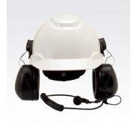 Motorola RMN5139 MT Series Hard Hat Attached with Boom Mic