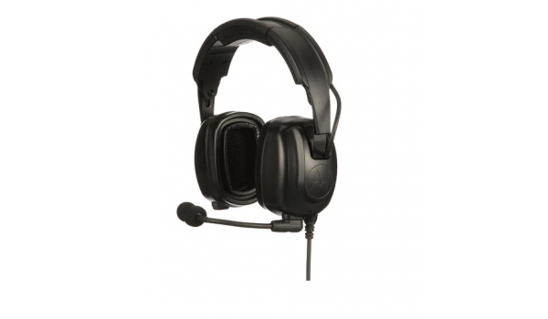 PMLN7464 - Heavy-Duty, Over-the-Head Headset With Noise-Canceling Boom Microphone
